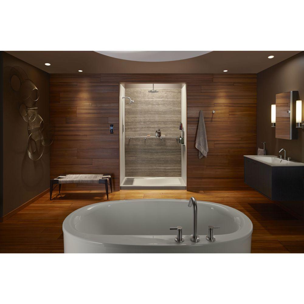 Kohler KBNK Choreograph Anodized Brushed Nickel Grab Bars - Brushed nickel grab bars for bathrooms for bathroom decor ideas