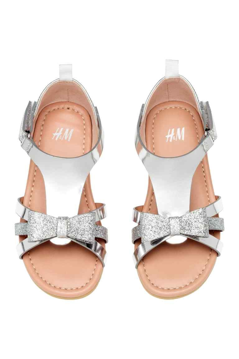 Sandals with appliqués - Silver - Kids  720b46deca9d
