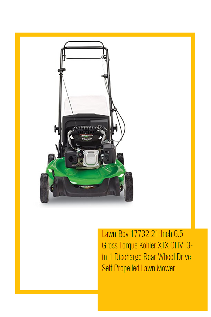 Lawn Boy 17732 21 Inch 6 5 Gross Torque Kohler Xtx Ohv 3 In 1 Discharge Rear Wheel Drive Self Propelled Lawn Mower Gross