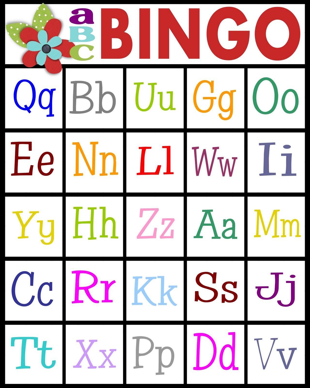 Sassy Sanctuary: ABC's Bingo- free printable! | Reading Resources ...