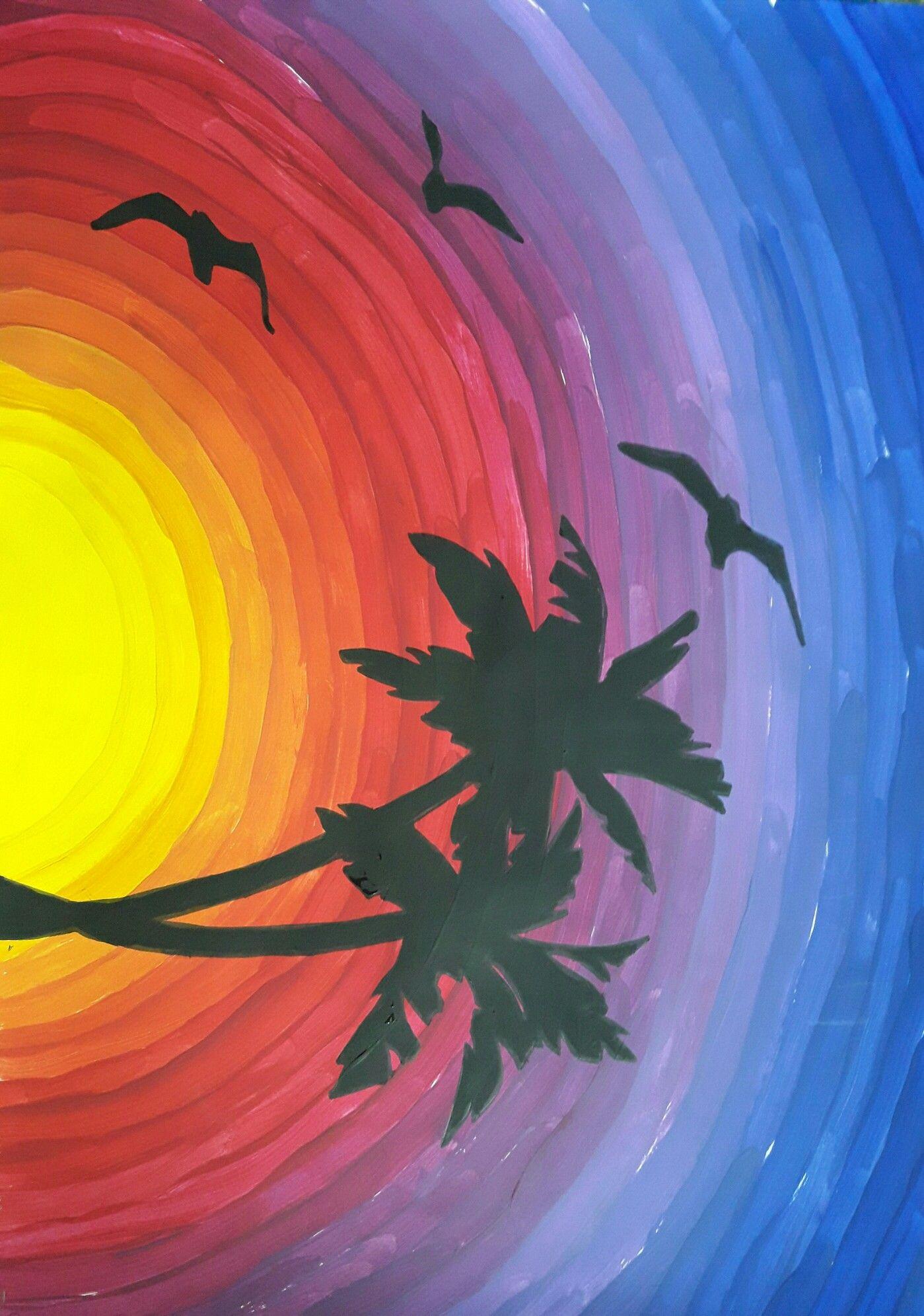 Paesaggi A Tempera Con Silouettes Per Seconde Classi Da Roprof Art
