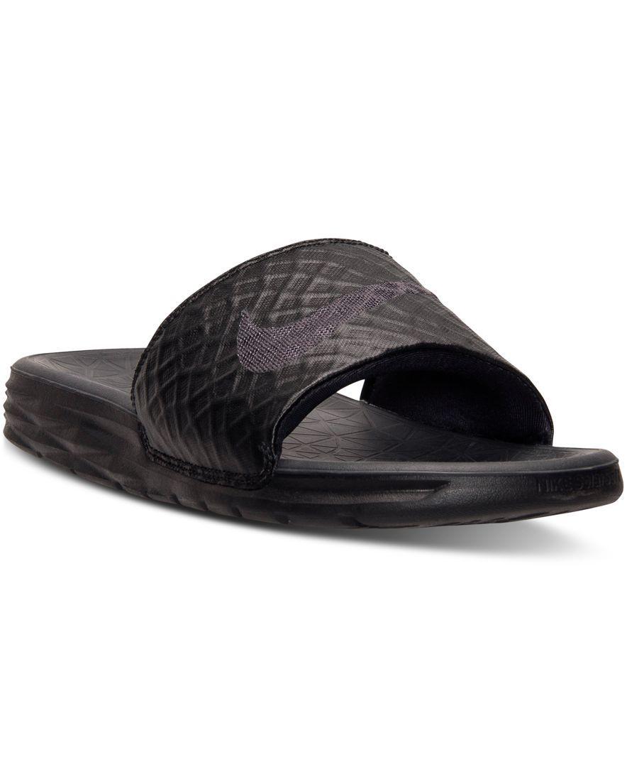 Nike Men's Benassi Solarsoft Slide 2 Sandals from Finish