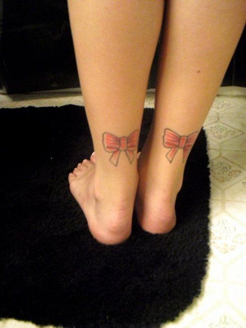 Bow Tattoos On Back Of Ankle Attractive Pink Bow Tattoos On Ankle Pink Bow Tattoos Ankle Tattoo Bow Tattoo Designs