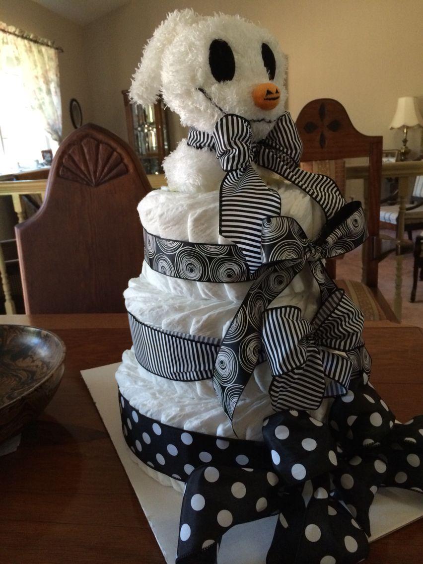 Diaper cake halloween baby shower theme halloween baby