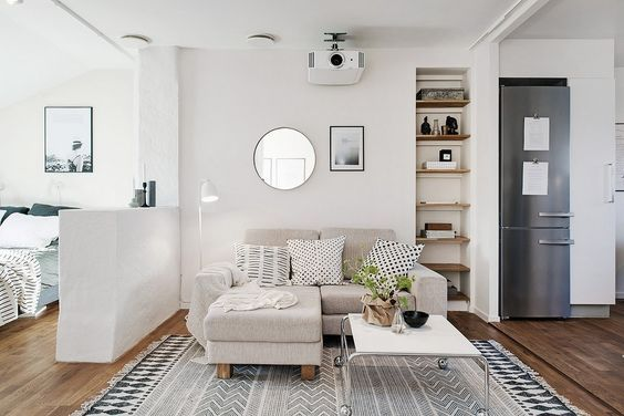 Beamer In Huis : Beamer in huis Хрущёвки studio apartment decorating small