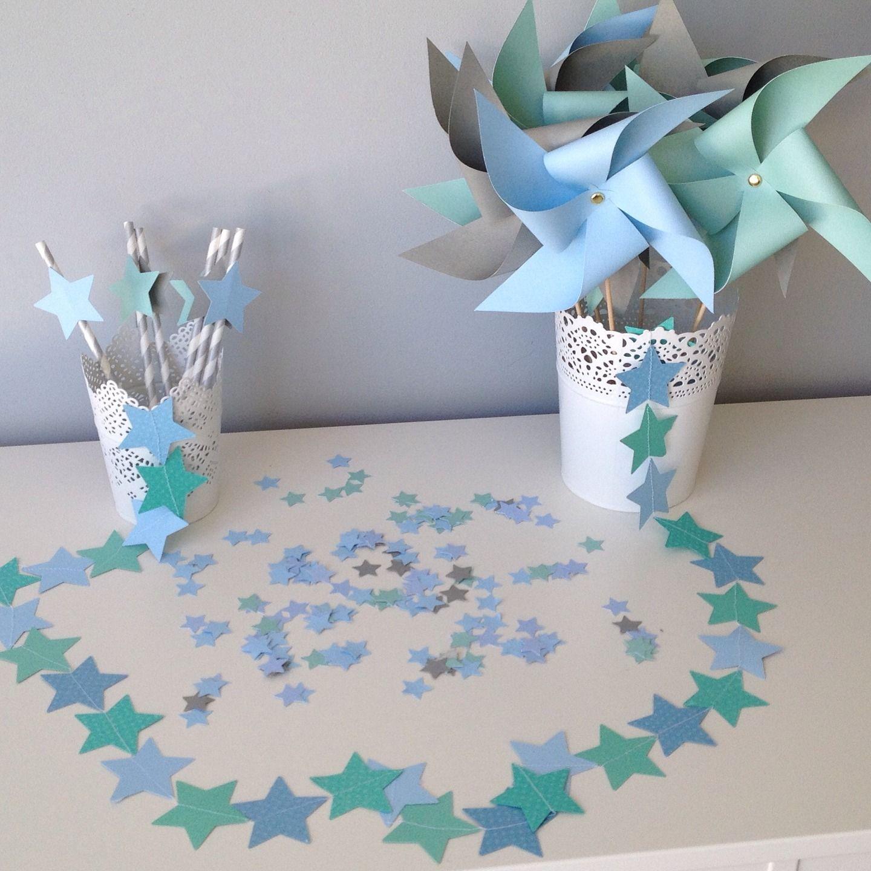 Kit d coration toile bleu ciel gris et vert d 39 eau id al for Decoration accessoire maison