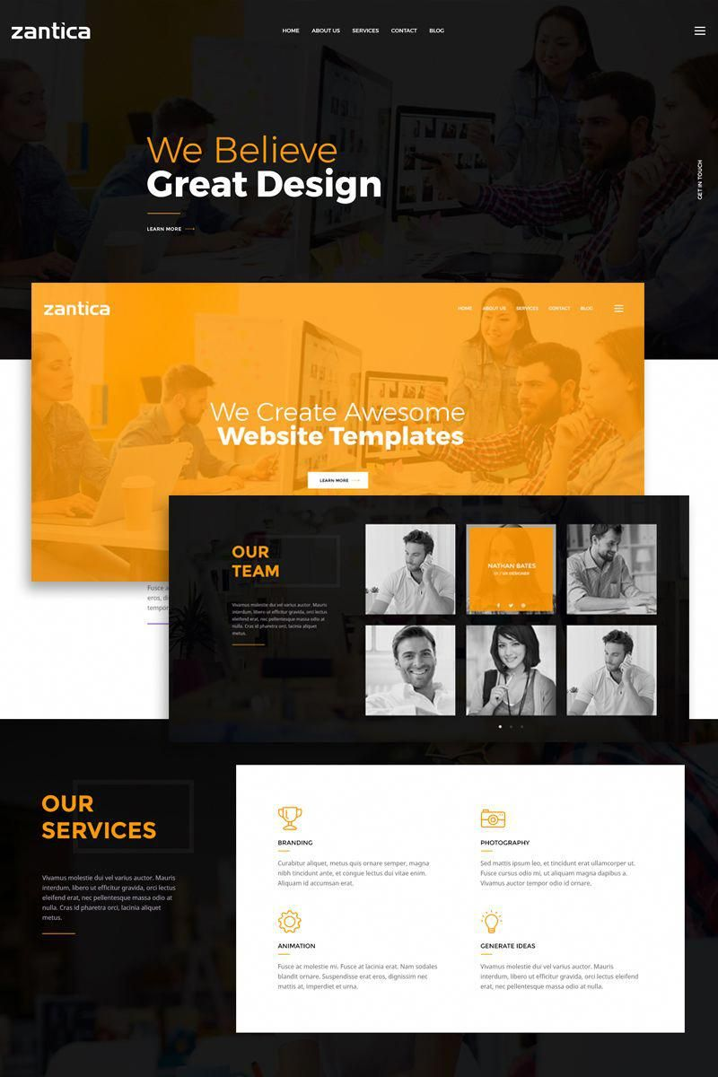 Zantica is a simple and interesting psd template for business agency zantica is a simple and interesting psd template for business agency design studio web wajeb Images