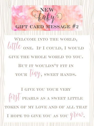 New Baby Gift Card Message 2 Welcome Into The World