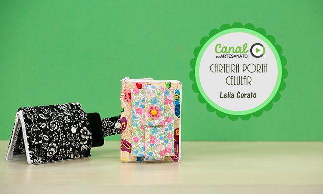 Carteira porta-celular - Leila Corato