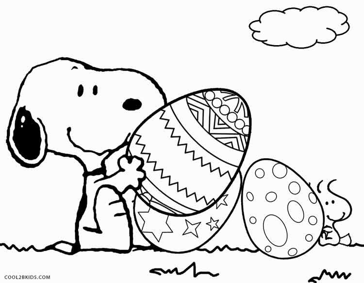 Printable Snoopy Coloring Pages For Kids