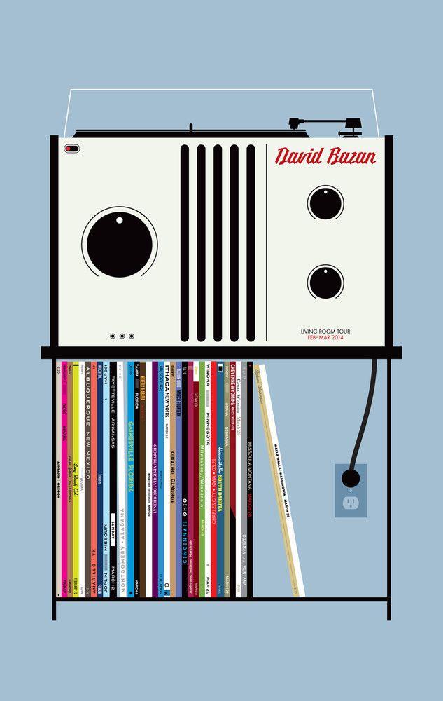David Bazan: 2014 Living Room Tour Poster   Room tour ...