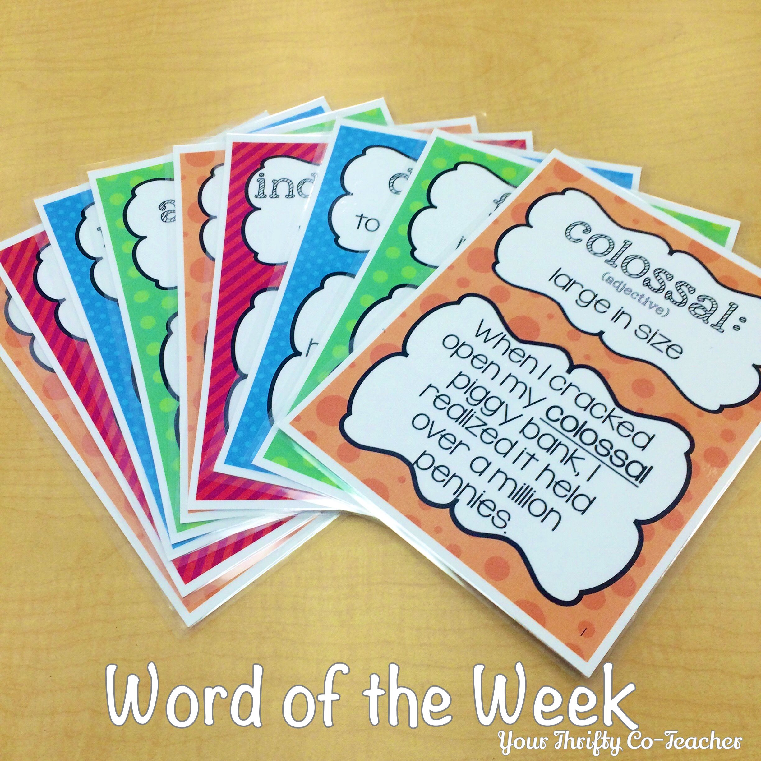 Word Of The Week Unit Grades 4 6 Posters Worksheet