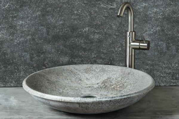 Travertino Bagno ~ Fonterutoli ice lavabo da appoggio in travertino ice grigio