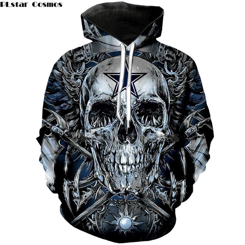 premium selection 88e16 f4ace Dallas Cowboys 3D Hooded Unisex Pullover Hoodie Sweatshirt ...