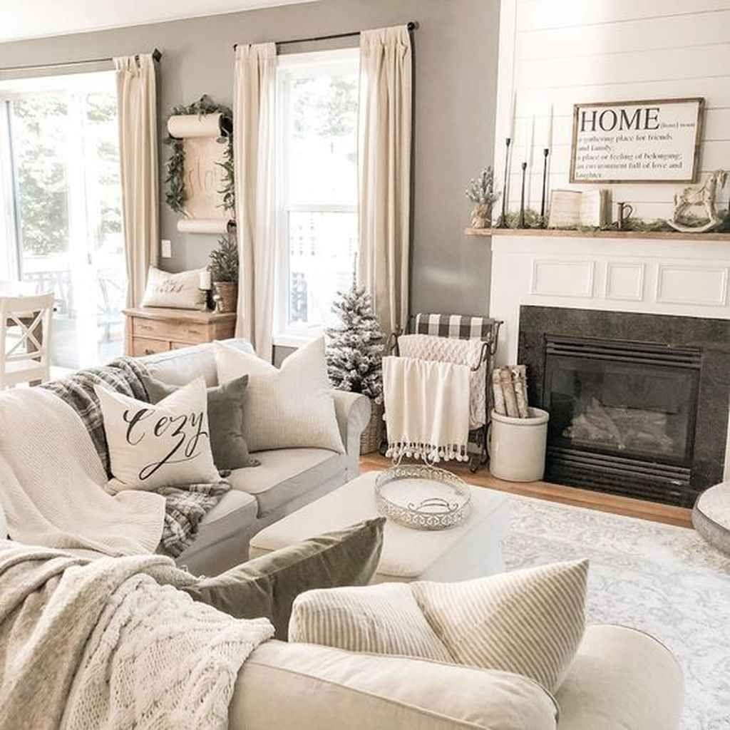 85 Beautiful Farmhouse Living Room Curtains Decor Ideas – For the Home