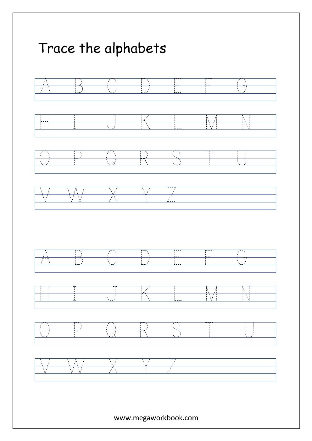 English Worksheet Alphabet Tracing In 4 Lines Capital Letters Tracing A Alphabet Tracing Worksheets Alphabet Practice Worksheets Alphabet Writing Practice [ 1403 x 992 Pixel ]