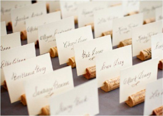 Something Green Cork Place Card Holders