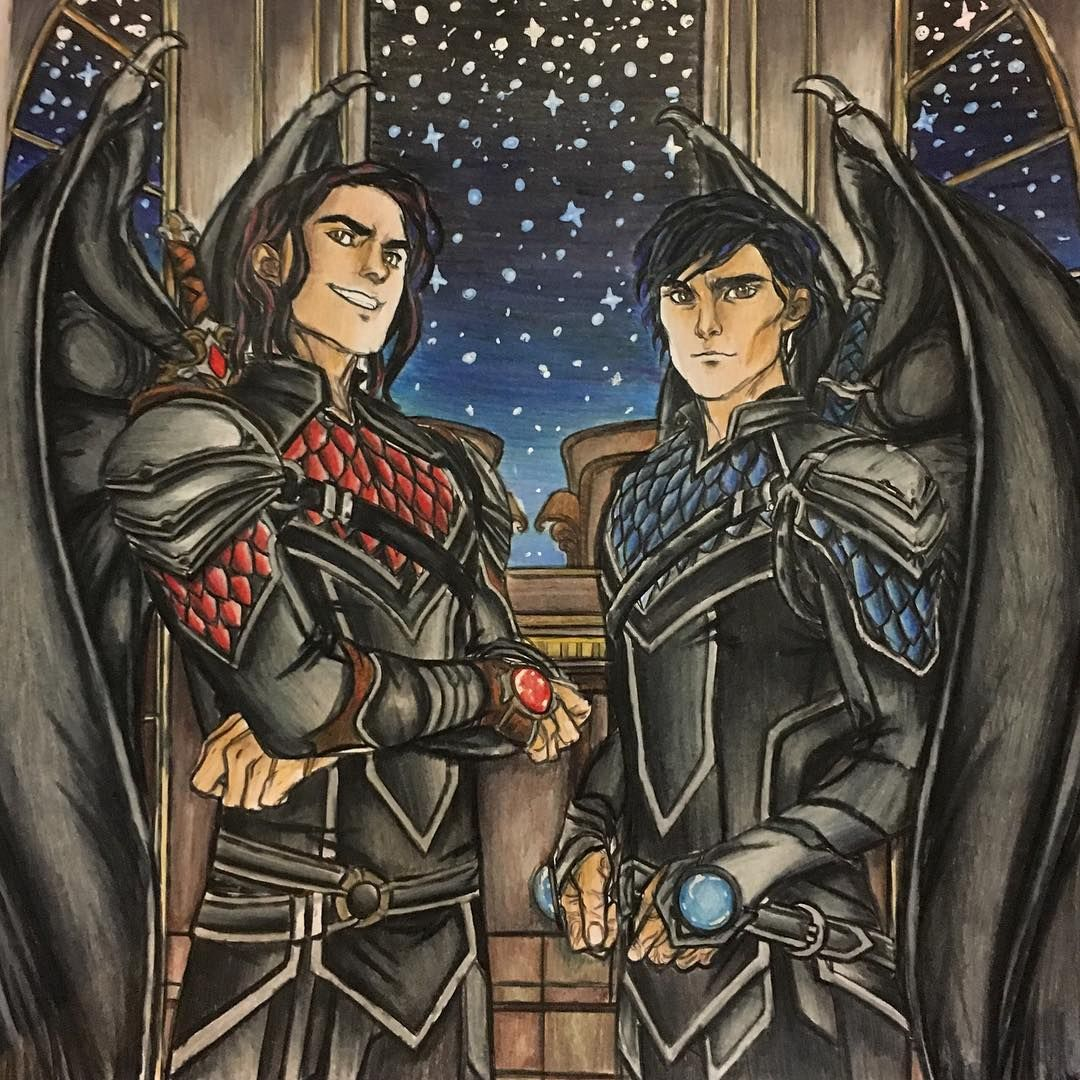 Another Colouring Of My Favourite Illyrians Azriel And Cassian