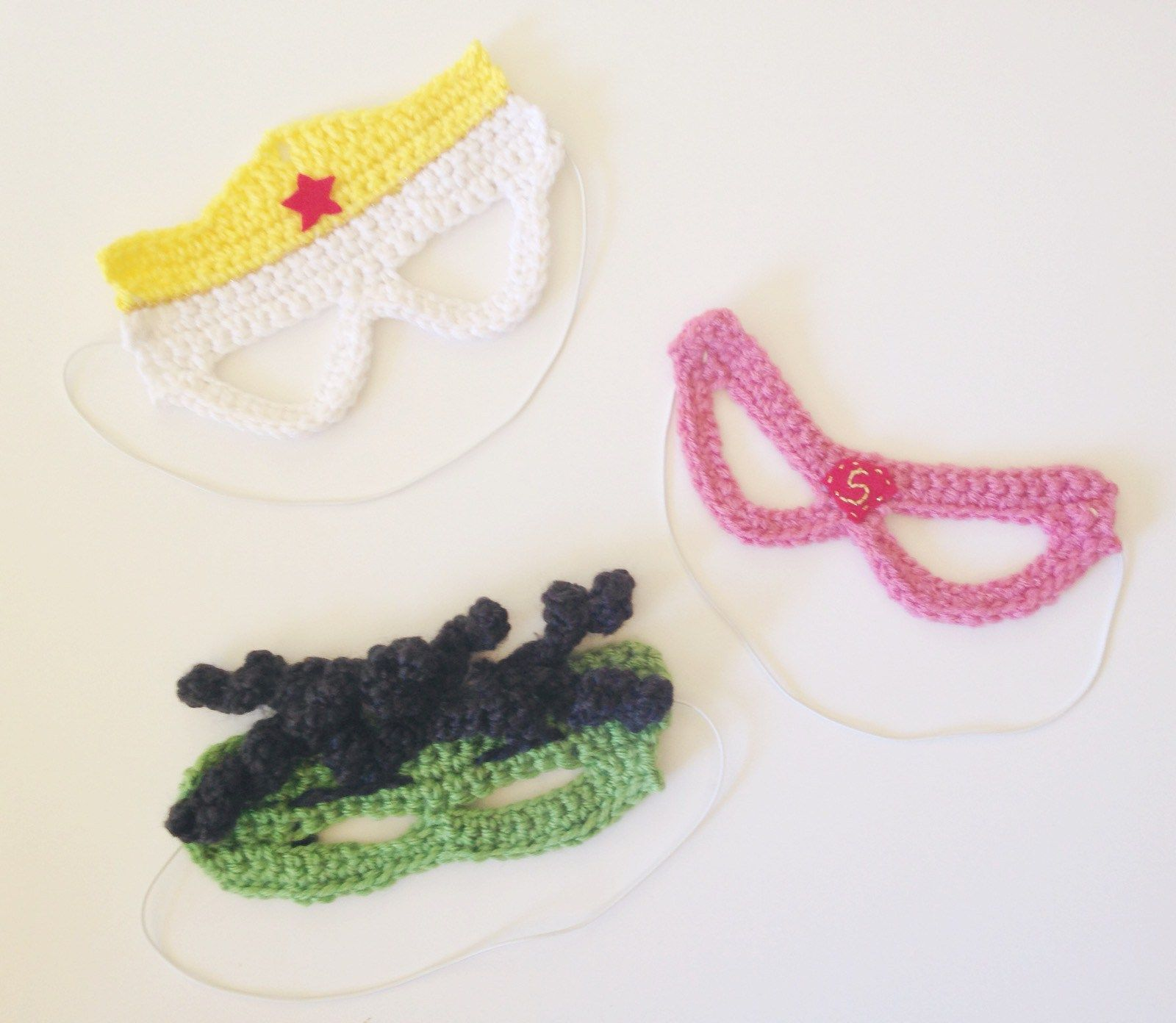 Crochet SuperHero Halloween Masks   Crochet   Pinterest