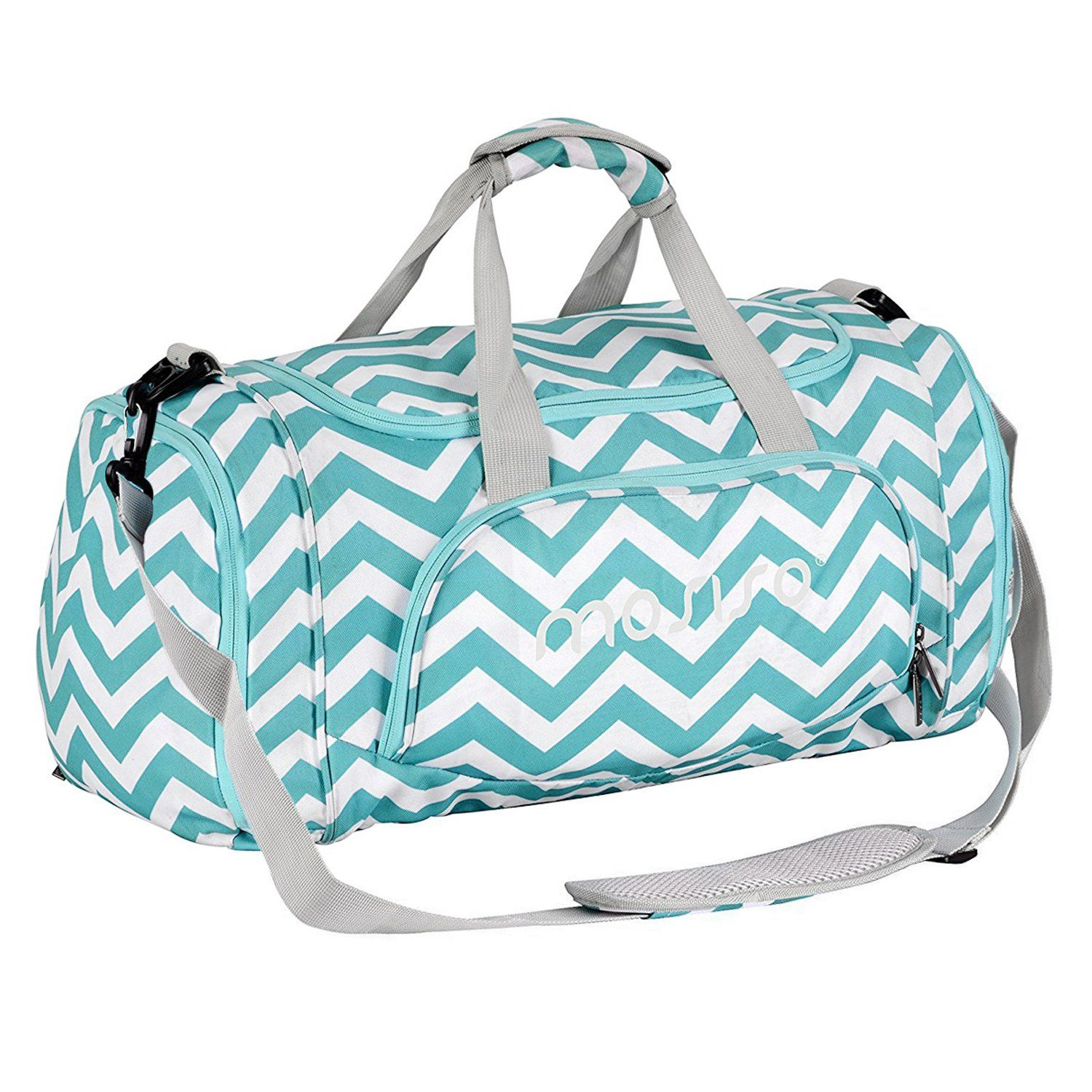 fee753442dd7 Mosiso Polyester Travel Overnight Duffels for Men Ladies Gym Bags ...