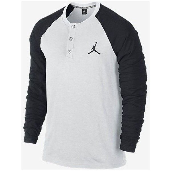 Nike Jordan Long Sleeve Henley Shirt