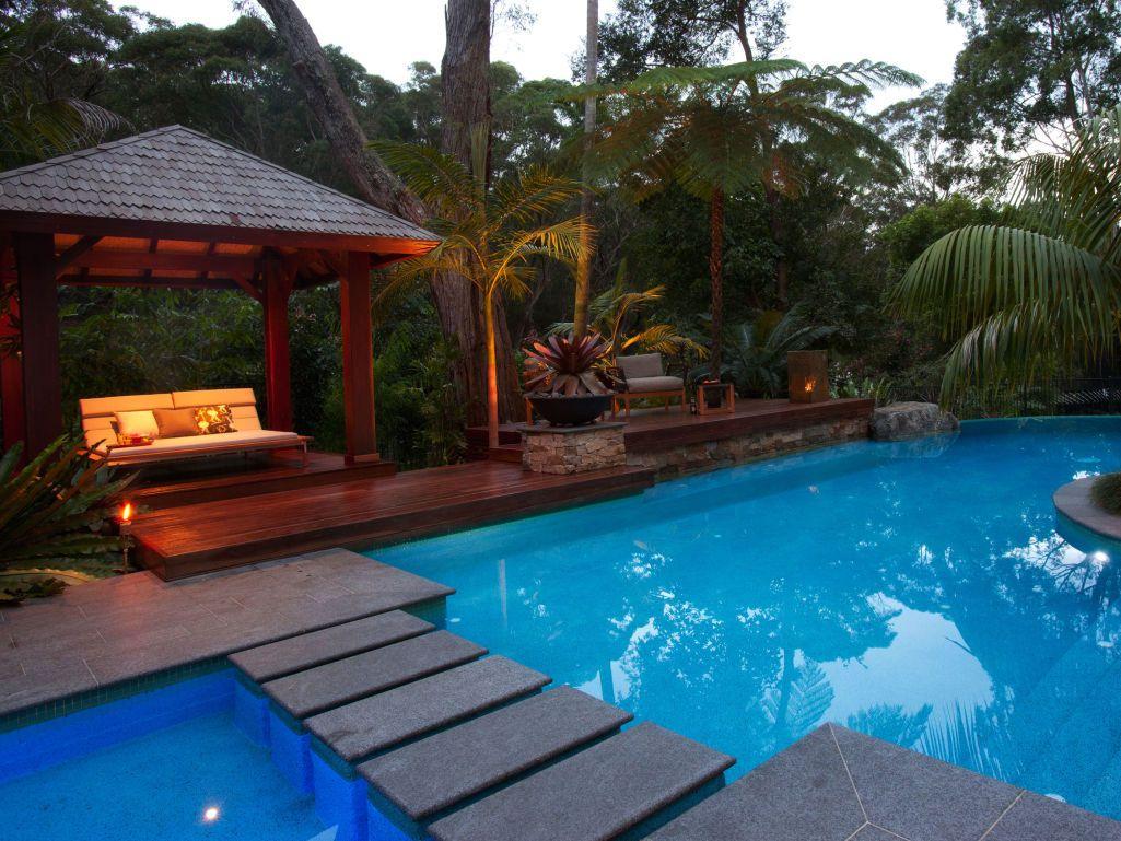 Eco Outdoor Raven Granite Paving Used In Resort Style Pool And Garden  Alfresco Area. Eco