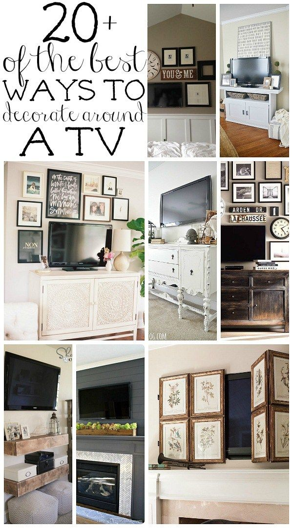 How to decorate around a tv an option for every style wall ideas gallery wall and decorating
