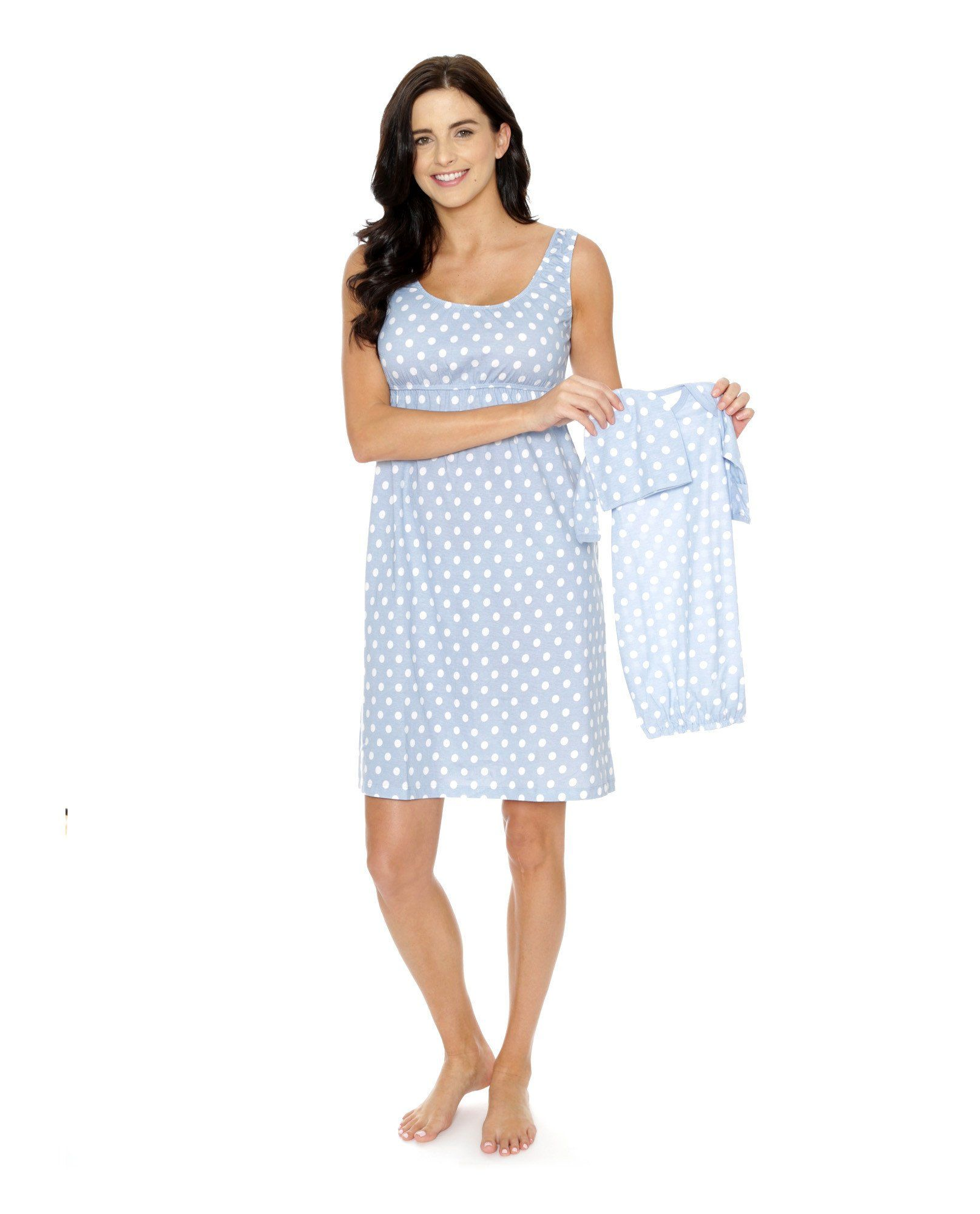 7325bdb9db713 Maternity/Nursing Nightgown and Matching Baby Gown Set | Products ...