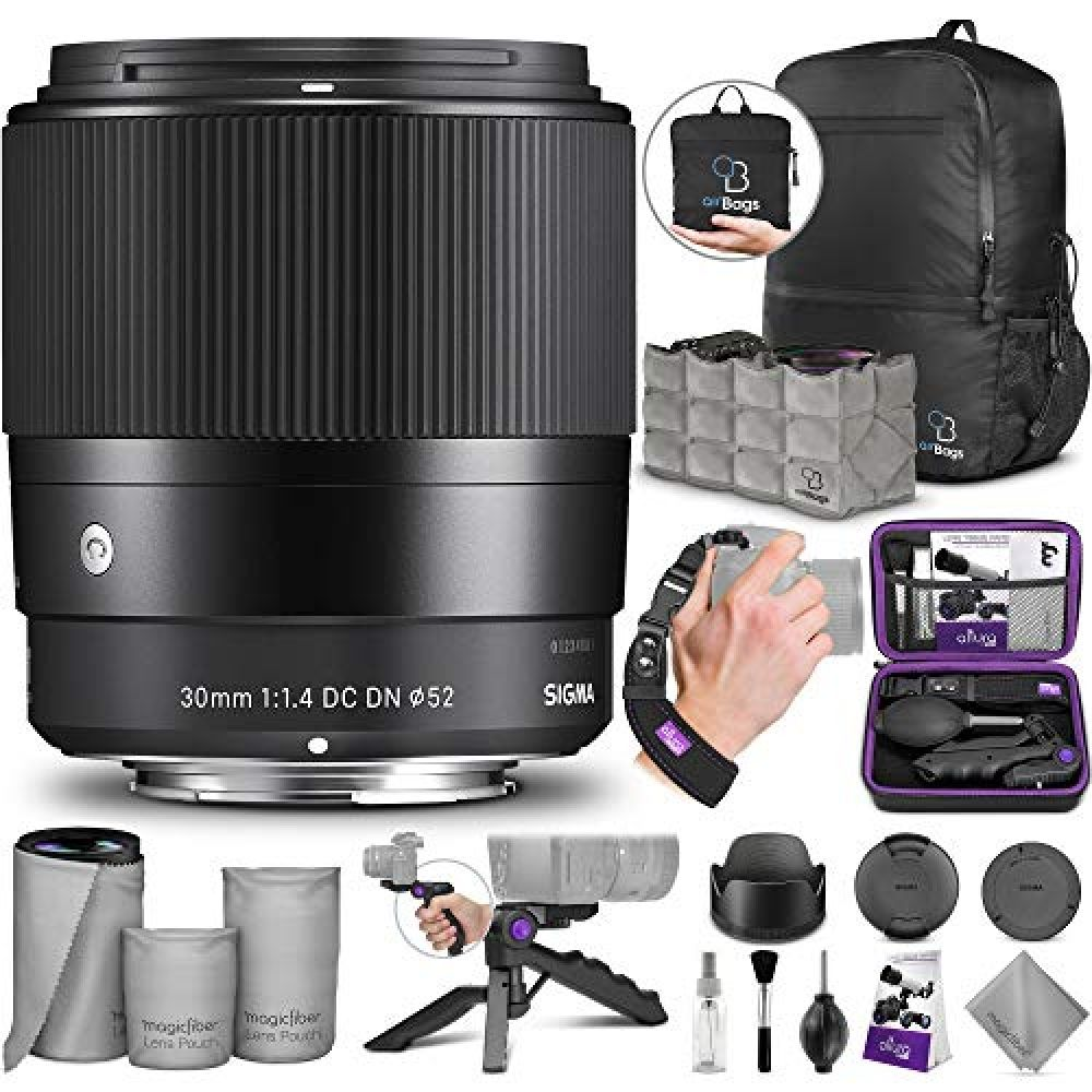 Sigma 30mm F1 4 Contemporary Dc Dn Lens For Sony E Mount Cameras With Essential Photo And Travel Bundle Sony E Mount Best Camera Lenses Lens