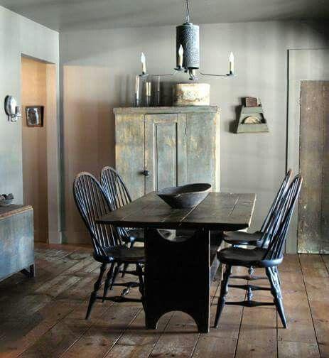 Primitive Dining Room Furniture: Future Lake Home Interior Design