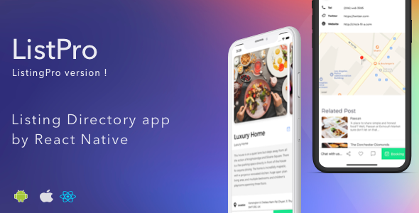 ListPro - Listing Directory React Native template Nulled | Nulled