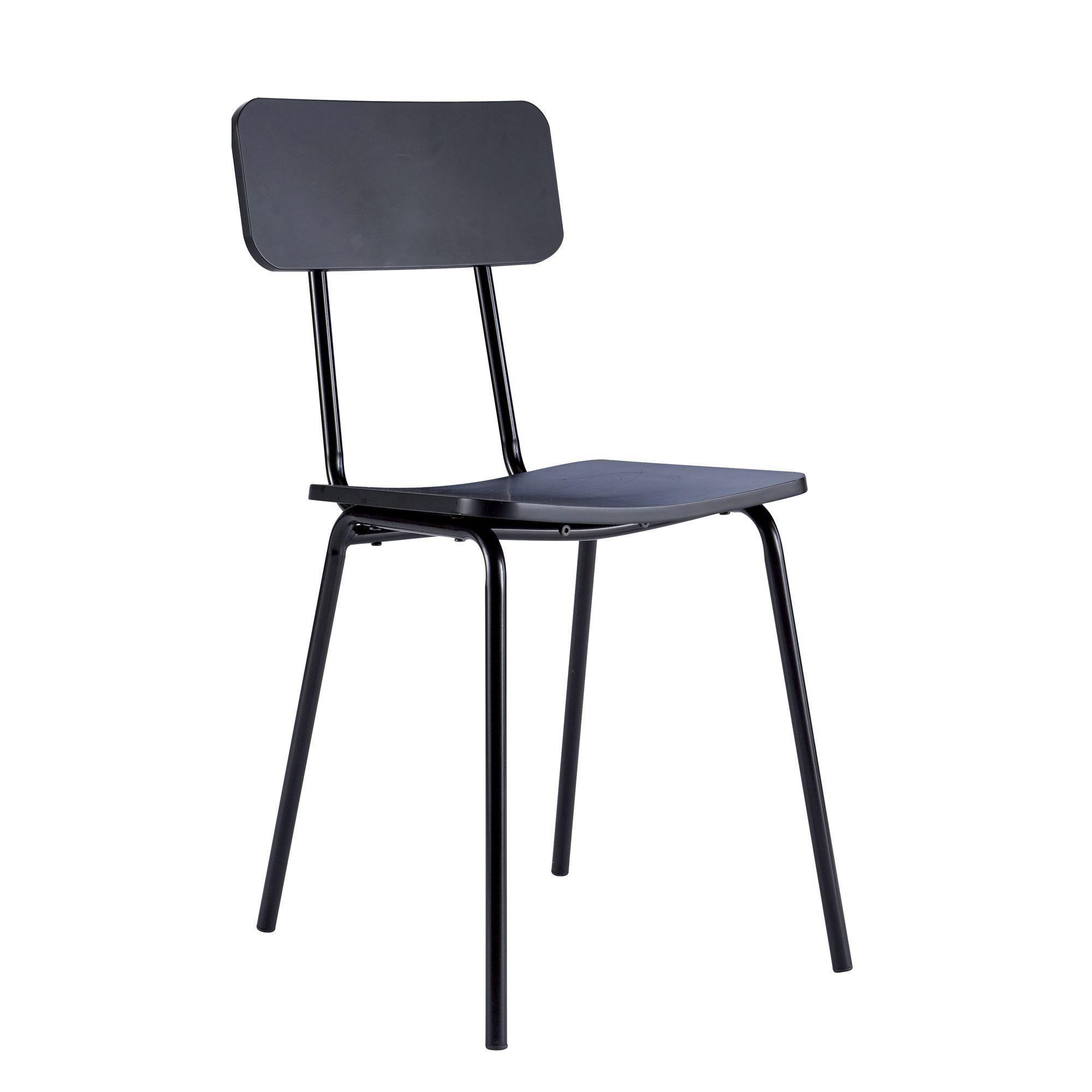 Noir Et Mika Chaise Tables Noire En Bois Chaises Métal WYe9EDH2I