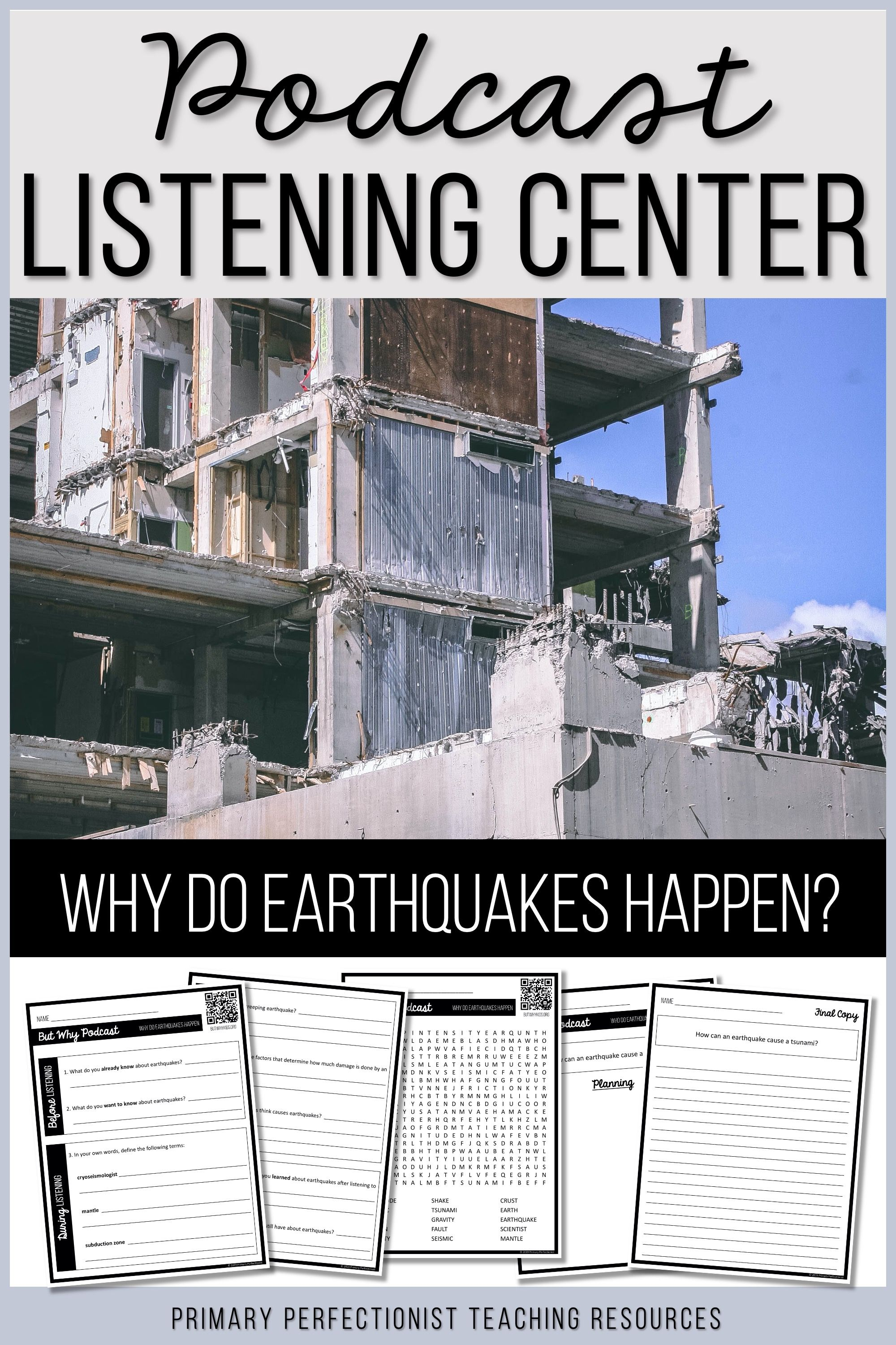 Podcast Listening Center About Earthquakes In