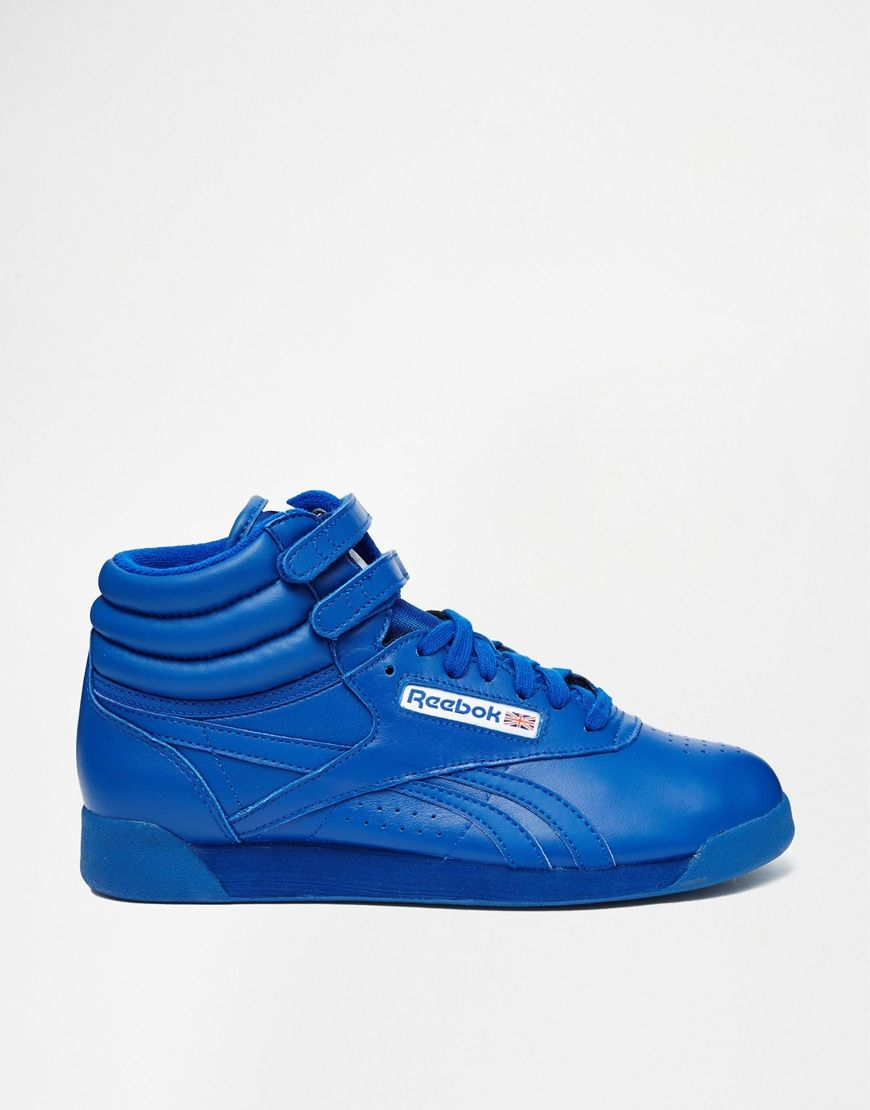 2f900bfde6 Reebok Hi Spirit Blue High Top Sneakers | Shoe HEELing! | Blue high ...