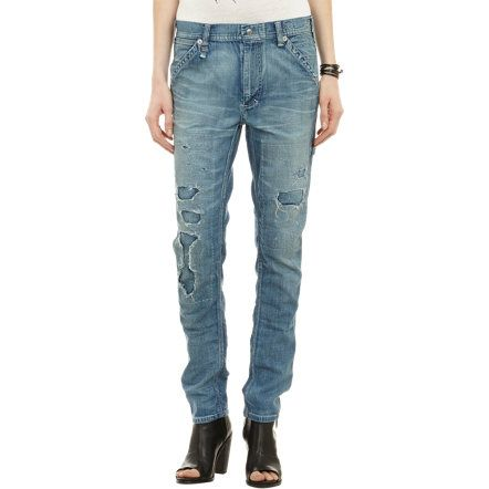 R13 Distressed Carpenter Jeans at Barneys.com