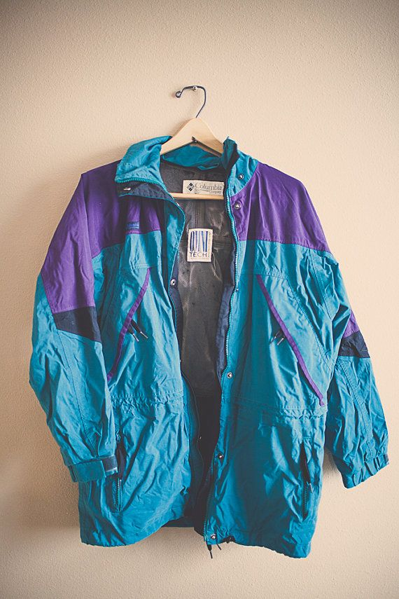 80s 90u0027s Columbia Windbreaker Jacket Coat Teal