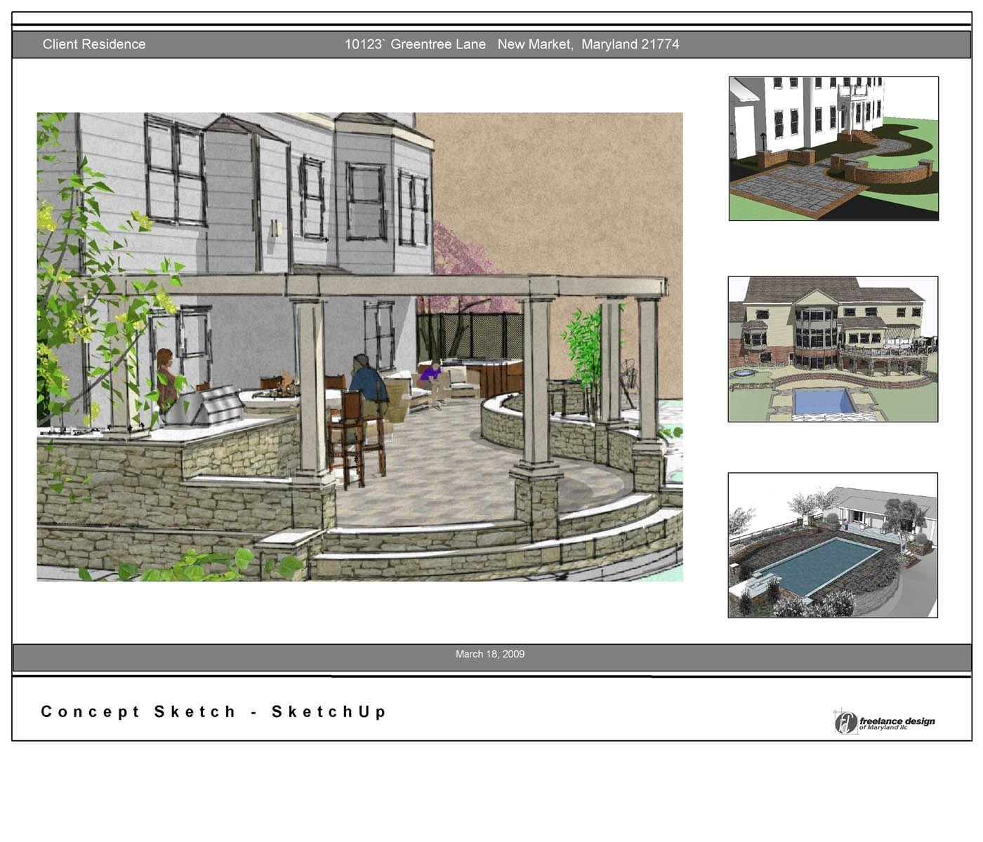 patio | Freelance Design of Maryland | House styles ...