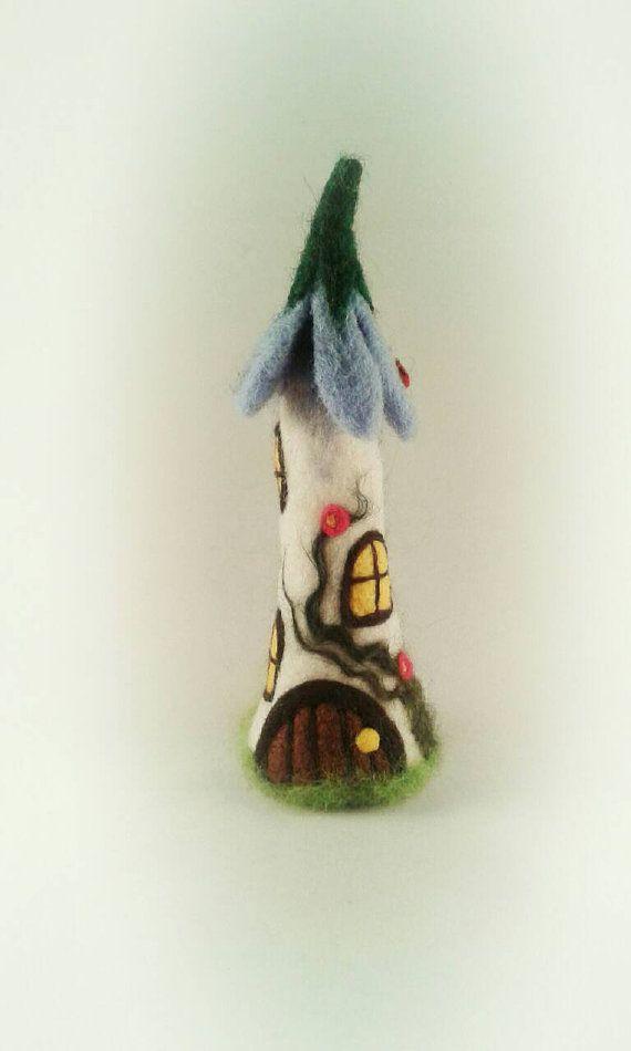 Needle Felted Fairy House, Etsy, FeltbyLisa..   Felt, With Feeling ...