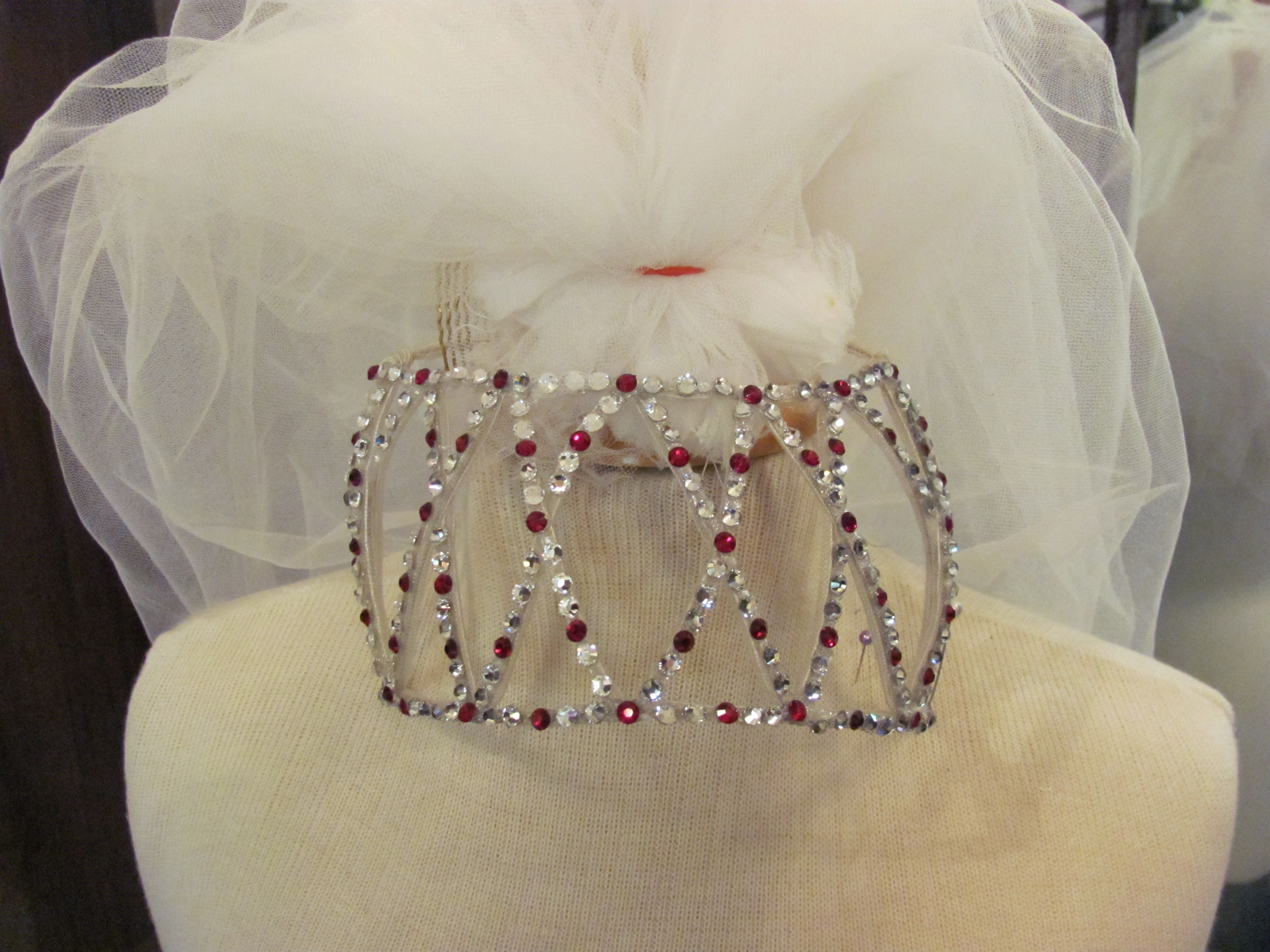 This is the family heirloom headpiece we updated and made more