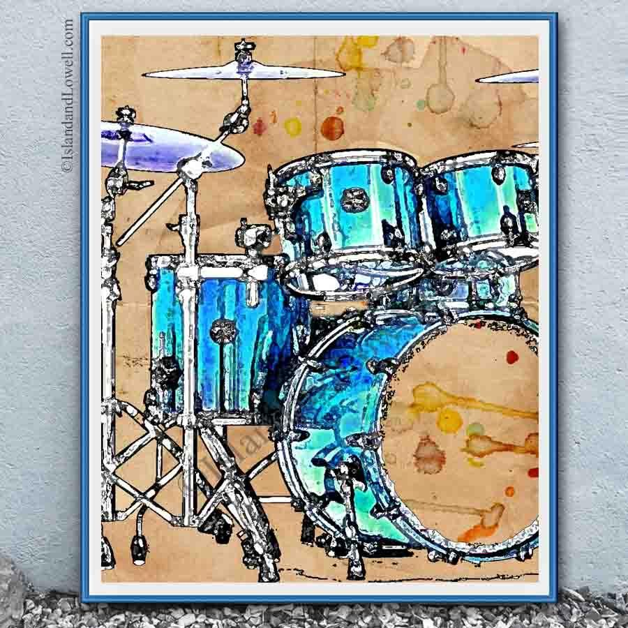 Drummer Wall Art Drums Art Drums Artwork Art