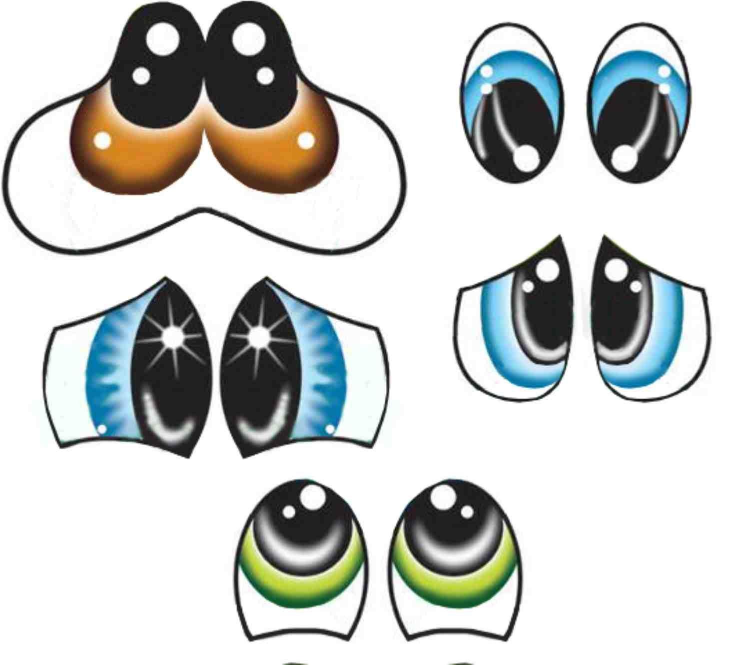 7 Pzas Estenciles Grandes Para Dibujar Ojos Y Por Creandoengomausa