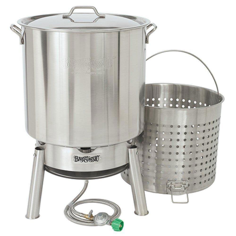 Bayou classic kds160 60 quart stainless boil steamer