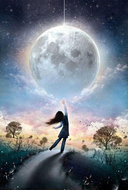 Resultado de imagen para Pinterest imagenes de luna brillando