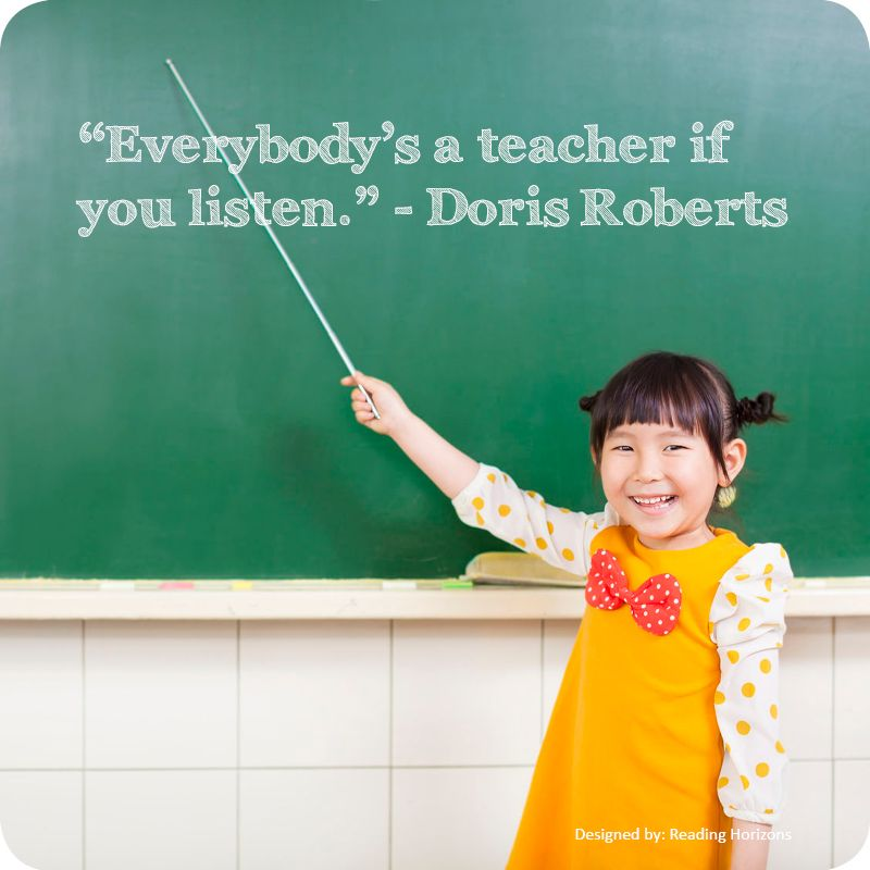 everybody s a teacher if you listen doris roberts quote education quotes