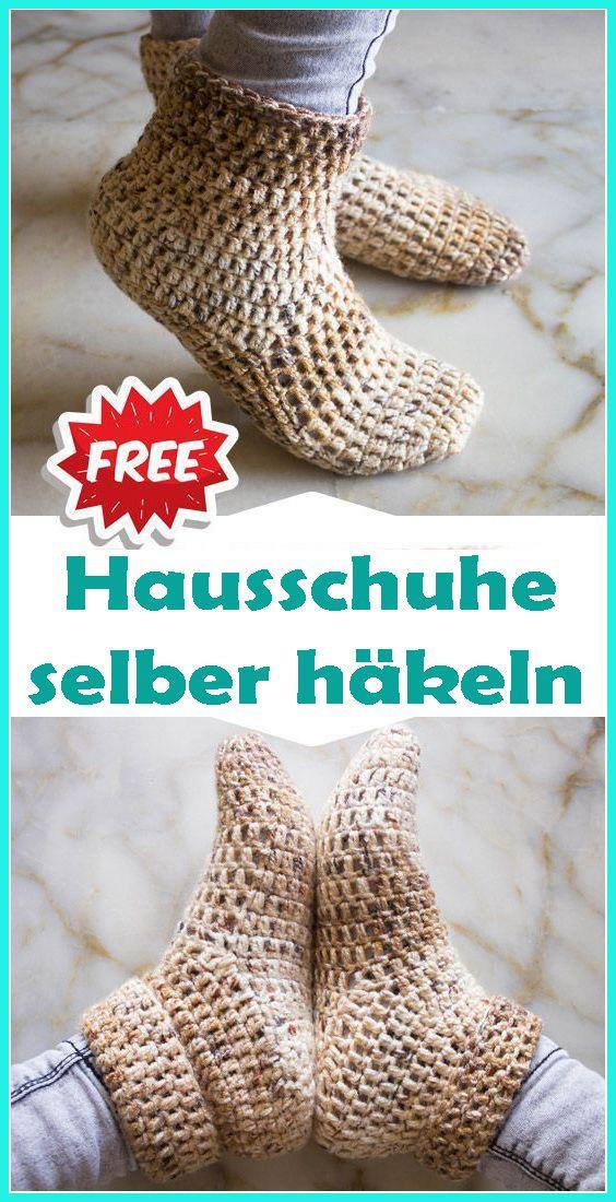Photo of Hausschuhe / Puschen häkeln – kostenlose & einfache Anleitung