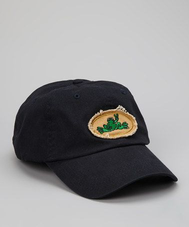 151099f9b6f Take a look at this Navy Frayed Oval Frog Baseball Cap - Women by Peace  Frogs on  zulily today!