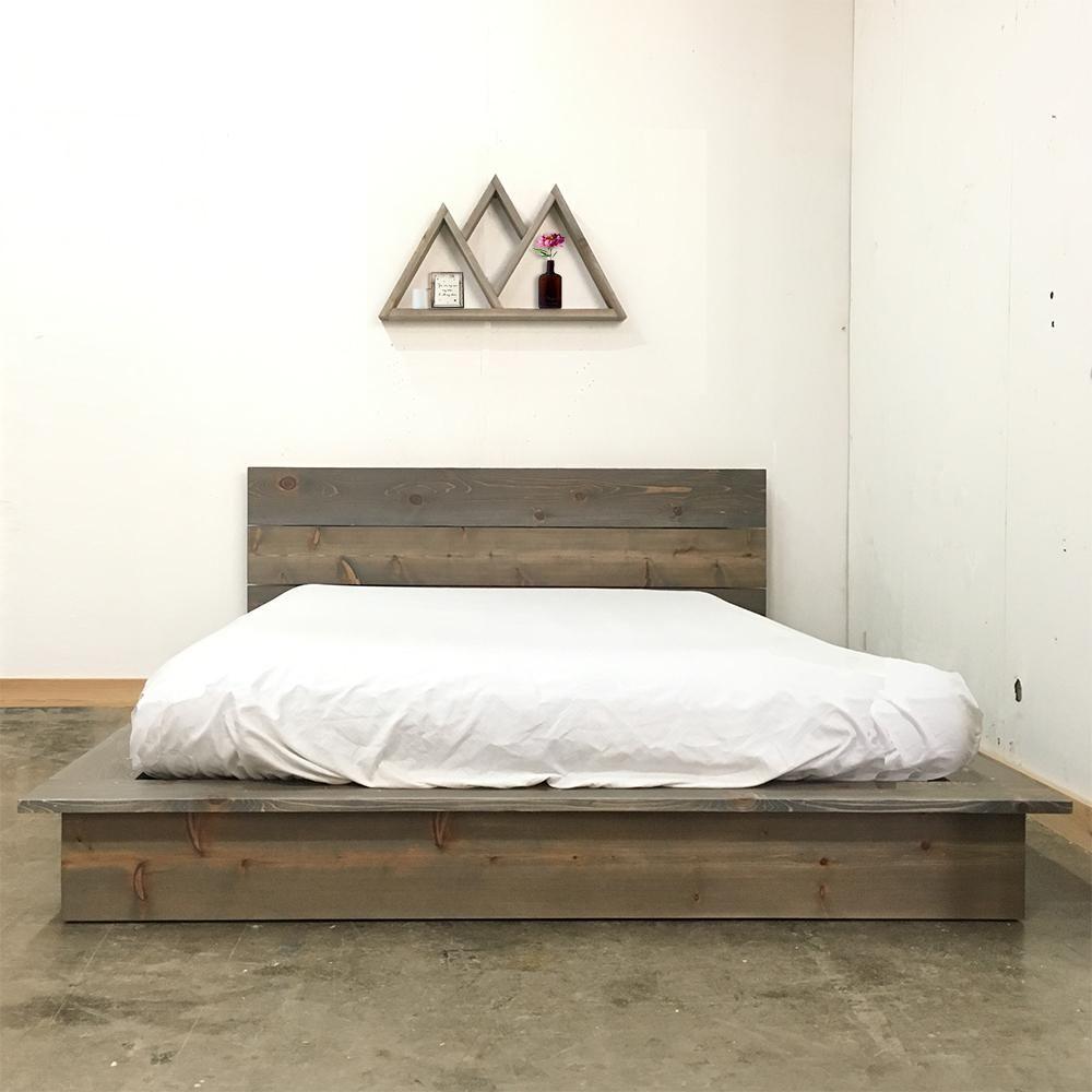 The Deadwood Low Pro Bed Bed Frame Headboard Platform Bed Frame Bed Frame