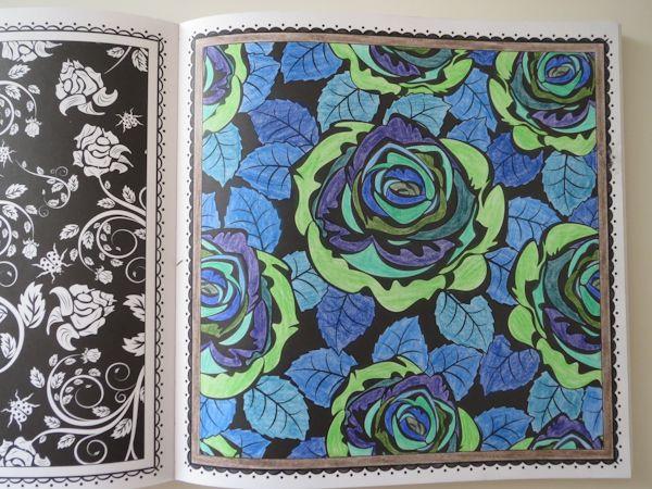 ausgemalt mit Buntstiften Malbuch Blütentraum & Farbenzauber
