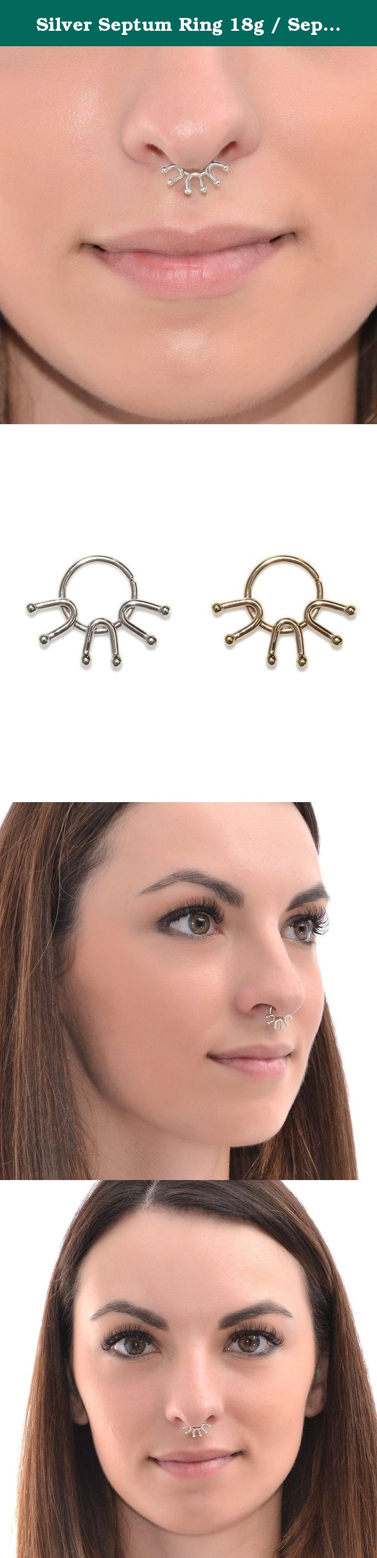 Piercing your nose  Silver Septum Ring g  Septum Piercing Nipple Ring This is a