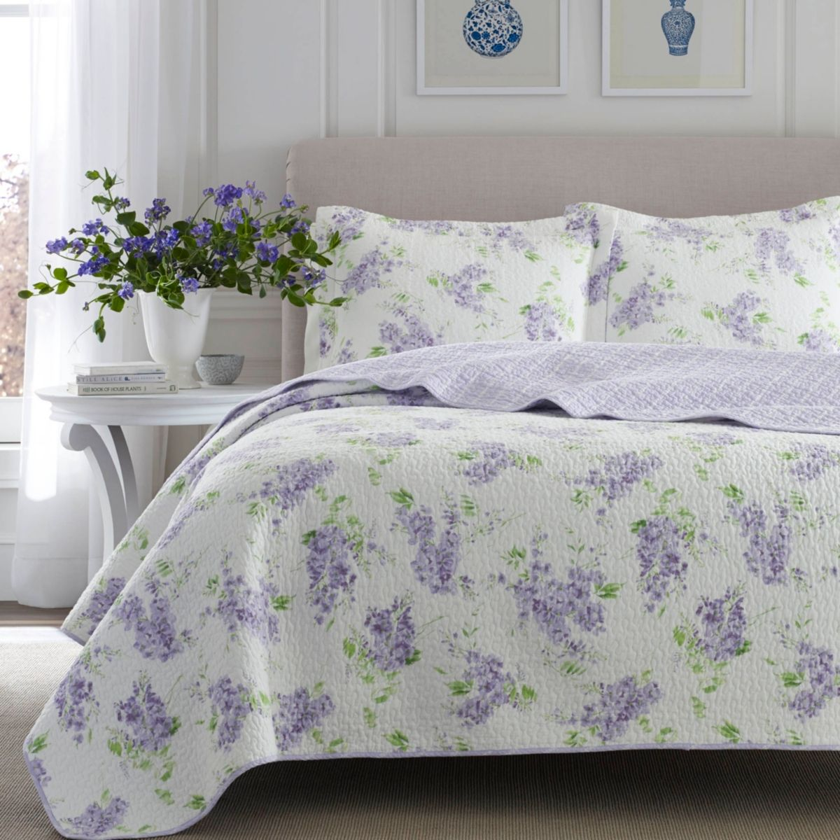 Laura Ashley King Keighley Pastel Purple Quilt Set Amp Reviews Quilts Amp Bedspreads Bed Amp Bath